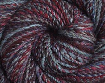 Handspun yarn - Merino wool yarn, DK weight - 290 yards - Edge of Night