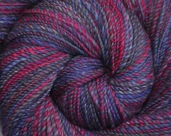 Handspun yarn - Hand painted Silk / Falkland wool, Fine Sport weight - 390 yards - Fading Hopes