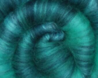 Spinning fiber batt for spinning and felting - Drum carded mixed fiber batt - 2.1 ounces - Mountain Spring