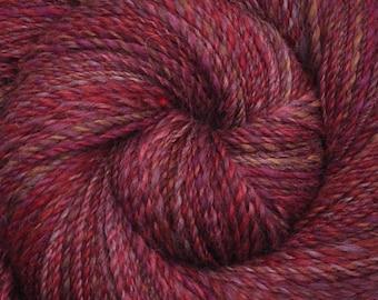 Handspun yarn - Hand dyed Alpaca / Merino wool, DK weight - 336 yards - Pleased as Punch
