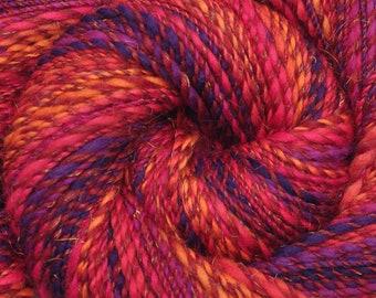 Handspun yarn - Merino wool / trilobal nylon yarn, worsted weight - 295 yards - Circus Clowns 1