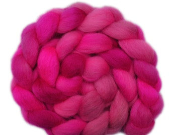 Hand Dyed roving - Gotland wool spinning fiber - 4.2 ounces - Secret Passion 1