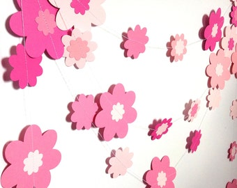 flower floral garland in shades of pink wedding birthday party baby shower