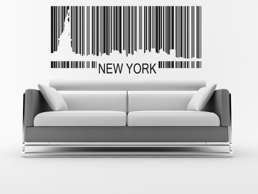 New York City Wall Art Statue Of Liberty Skyline Decal Nyc Etsy