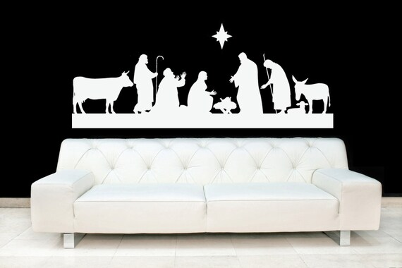 nativity scene christmas baby jesus star stable outdoor | etsy