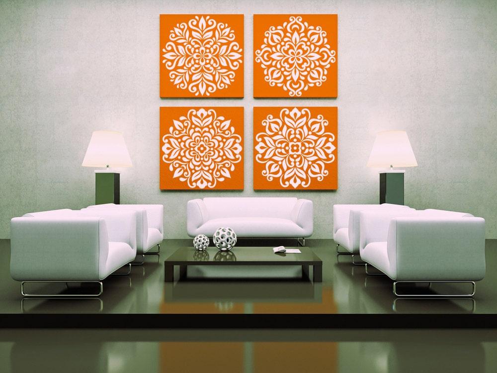 Ornate Pattern Wall Decals set of 4 Vinyl Sticker Art