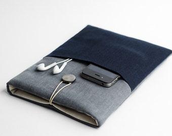 Macbook 12 inch case, Surface Pro 6 case, minimal, modern, with pocket