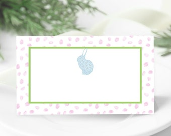 Pink Polka Dot Bunny Place Cards