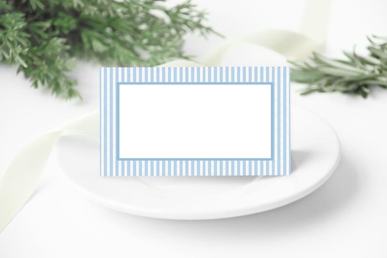 Blue Seersucker Place Cards