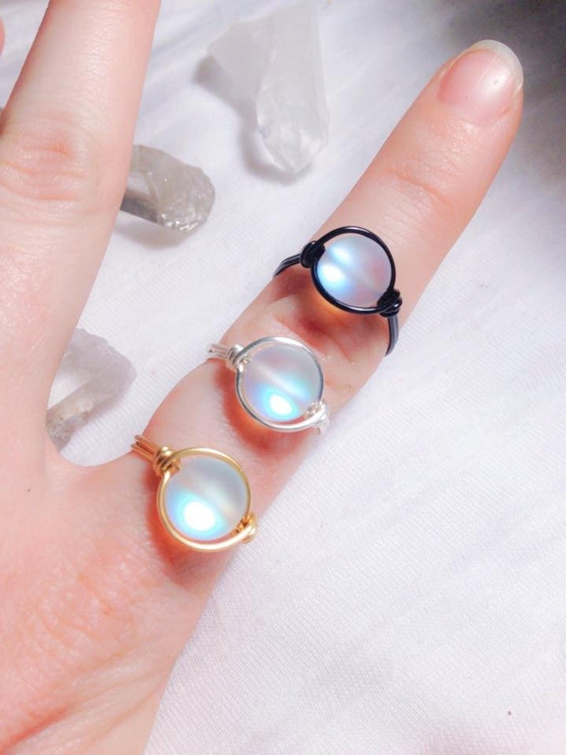 4f1948dc5 A Drop of Moonlight Ring Glass Light Up Ring Imitation | Etsy