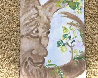 Hand Painted Grow Chart Tree, Children's Growth Chart, Personalized, Fabric Banner Grow Chart, #GC144