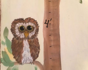 Hand Painted Growth Chart Tree, Custom Made, Personalized Grow Charts,