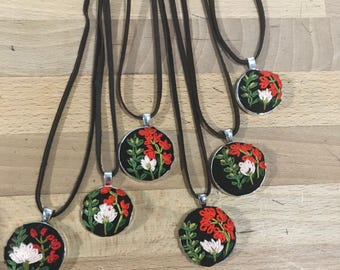 Bright wildflower pendant
