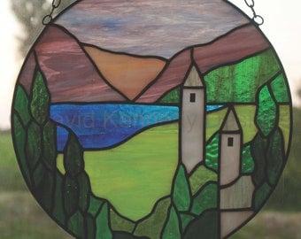 Glendalough Stained Glass Pattern. © David Kennedy Designs.