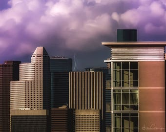 Downtown Houston, 11X14 Photo print, signed by me on the back