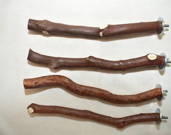 Manzanita Bird Perches  Set of 4 Single Branch with Hardware  * Sweet Deal