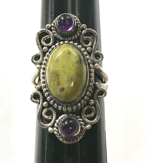 Sterling Silver Ruby Zoisite Ring Pendant and Ear… - image 5
