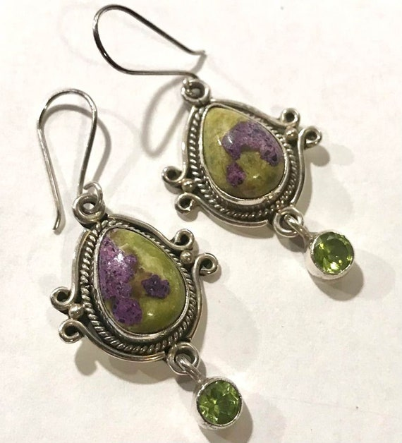 Sterling Silver Ruby Zoisite Ring Pendant and Ear… - image 3