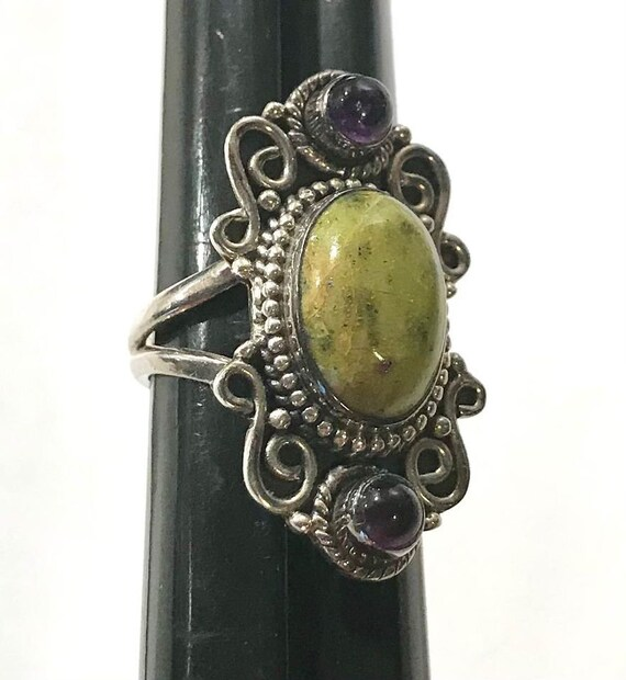 Sterling Silver Ruby Zoisite Ring Pendant and Ear… - image 7