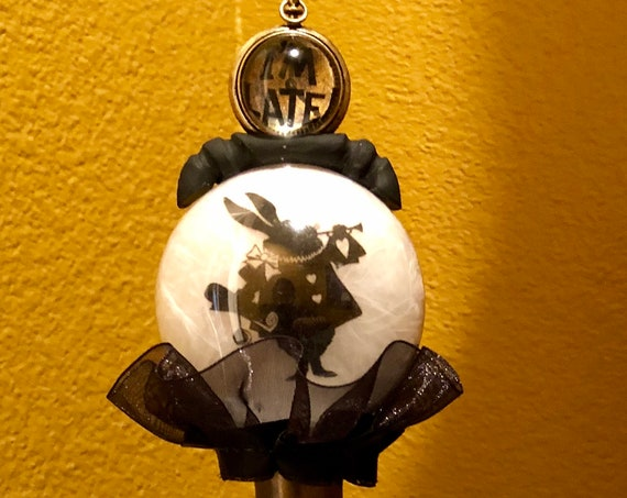 Alice in Wonderland Disney White Rabbit Halloween decor Crystal Ball