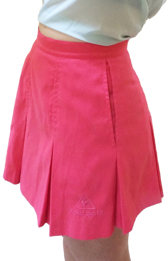 38fad4fe2fab Pleated Tennis Skirt    French Rose Hot Pink    Made in the
