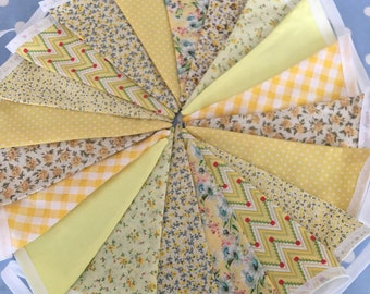 Bright Summer Shabby Chic Welcome Home New Baby Bunting Banner Garland