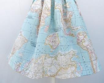 World Map Skirt Etsy