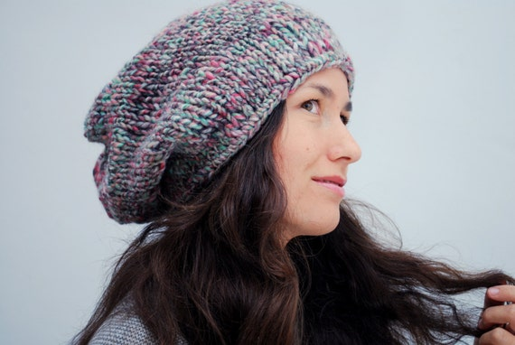cffc6950d98 EXPRESS SHIPPING US   Canada Gray hand knit slouchy beanie