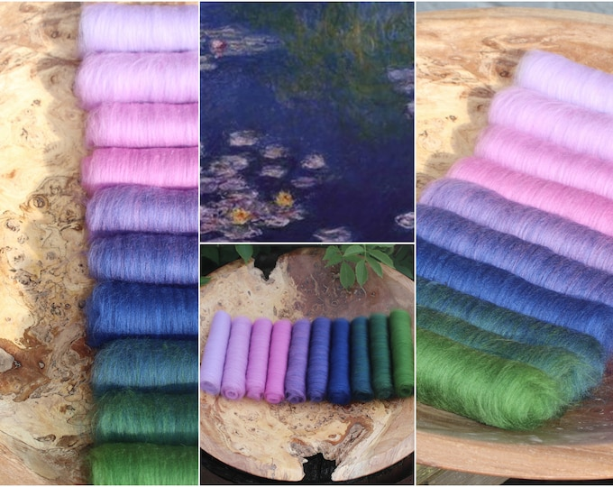 Monet's Lily Pond XL Gradient Batt Set - 150g