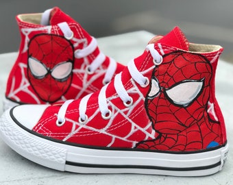 932100436a3398 Spider-Man toddler kids Converse