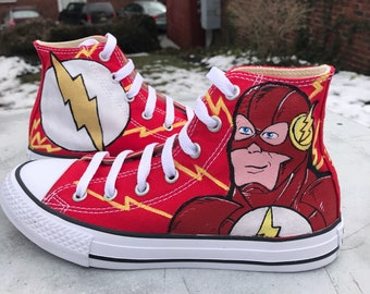 b755088ff379 The Flash custom kids toddler Converse