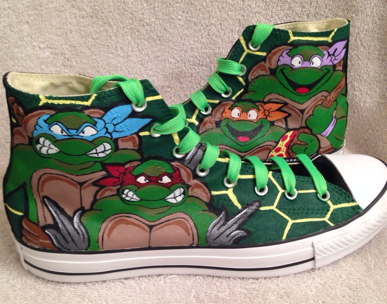 af2c3345dce1 Teenage Mutant Ninja Turtles Custom Converse