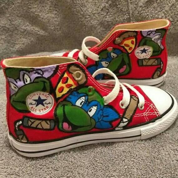 2a5c7a846e03 TMNT DELUXE custom toddler KIDS Converse