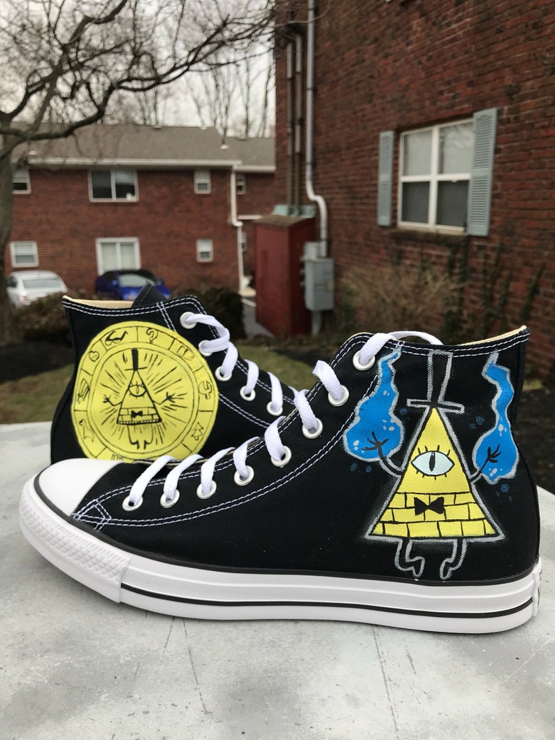 292c121280f9c2 Bill Cipher Gravity Falls custom Converse