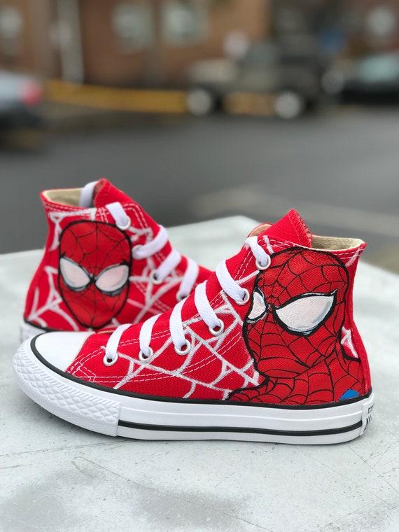 custom spiderman converse