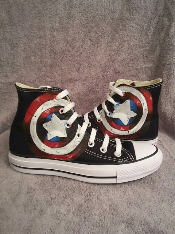 Captain Americas shield custom Converse