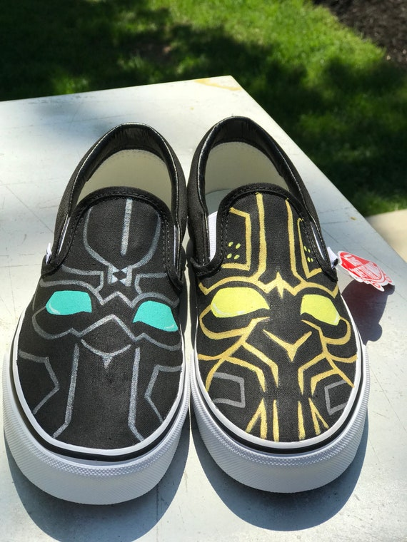 Black Panther custom kids Vans  c2e004b25