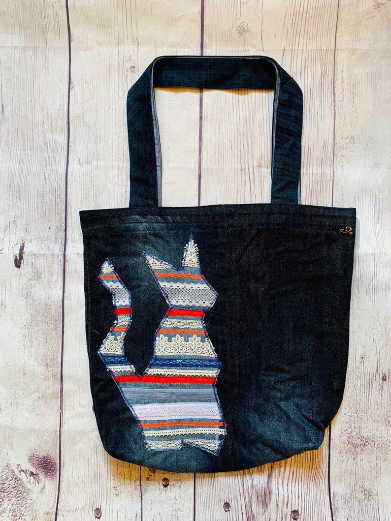 Zero Waste Bag Jeans Cat and Lace!