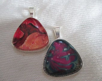 Multi-Color Nail Polish Pendant - one item