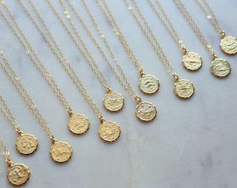 Zodiac sign necklace | Etsy