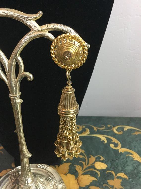 Vintage Claire Deve drop dangle earrings - image 4