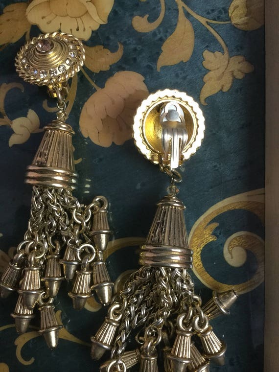 Vintage Claire Deve drop dangle earrings - image 3