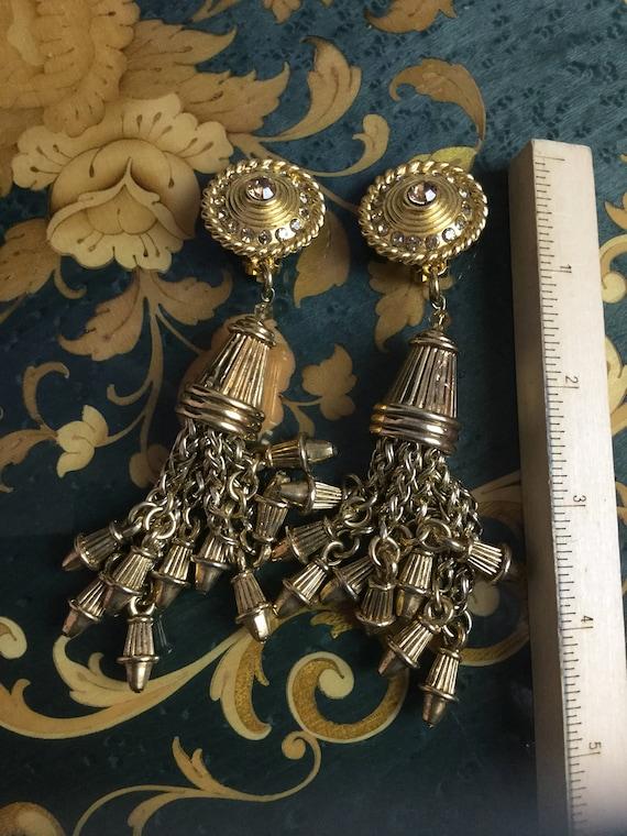 Vintage Claire Deve drop dangle earrings - image 1