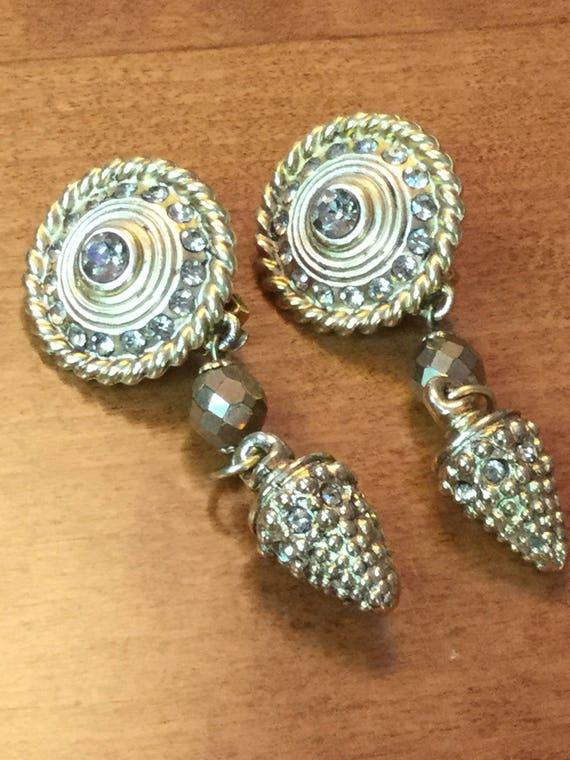 Claire Deve vintage rhinestone earrings