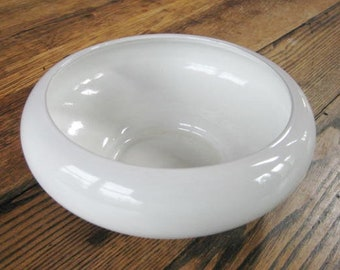 "White Mid-Century Frankoma Pottery 8"" Console or Bulb Planter Bowl"