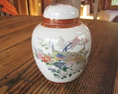 Satsuma 5 quot Ginger Jar w Lid Peacocks Flowers Arnart Imports 1979