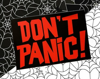DON'T PANIC vinyl decal - Hitchhiker's Guide, 42. Laptop decal, Nerdy decal, h2g2 sticker.