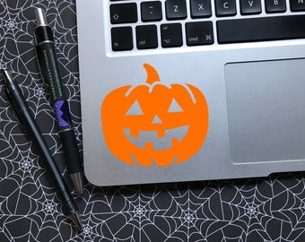 Happy Pumpkin decal - Choice of colors and sizes - Car window decal / Laptop sticker / Halloween sticker / Fall sticker / Jack O Lantern