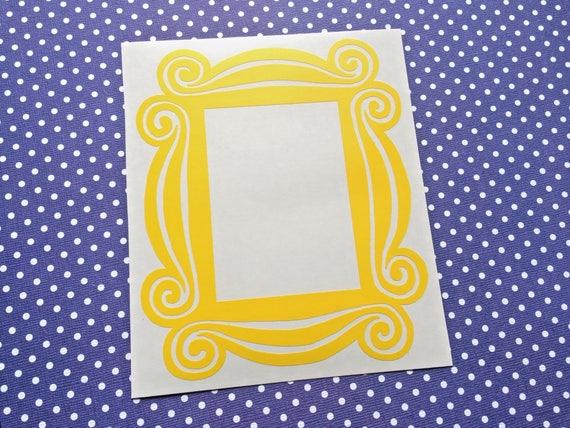 Friends Door Decor Large Yellow Frame Indoor Vinyl Decal Etsy