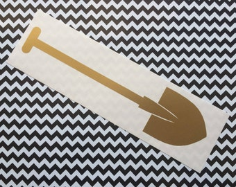 Golden Shovel decal -  Car decal / laptop decal / Dr Amp / Dr Jacoby / Twin Peaks inspired / Cult TV